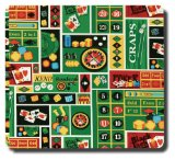 Collected Memories PB-Casino-Royale Fabric-Covered Post-Bound 12-by-12-Inch Scrapbook Album, Casino Royale
